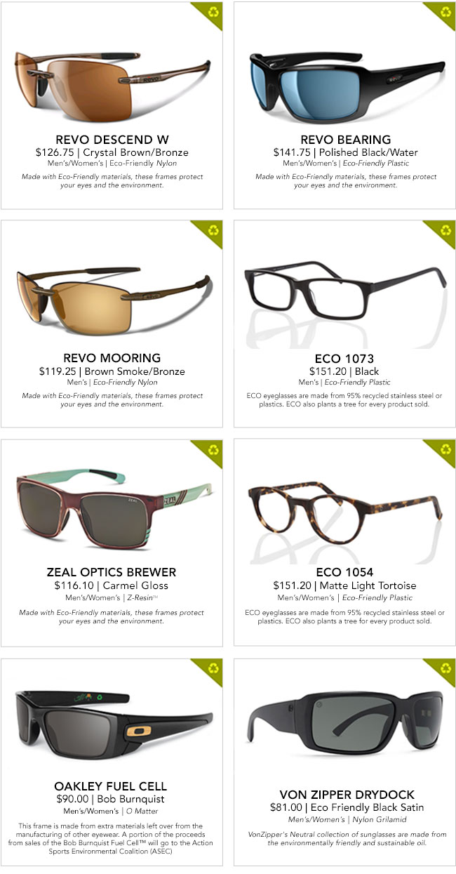 Earth Friendly Eyewear