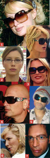 Celebrity sunglasses and eyewear sightings for January 2008