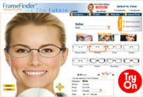 Try on eyeglasses frames online